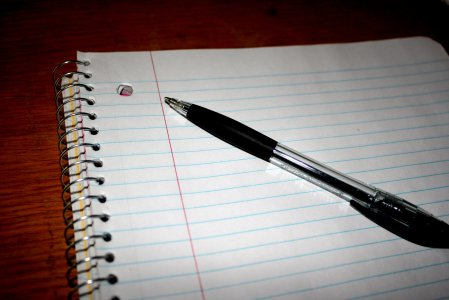 pen and notebook - Photo courtesy photos-public-domain.com
